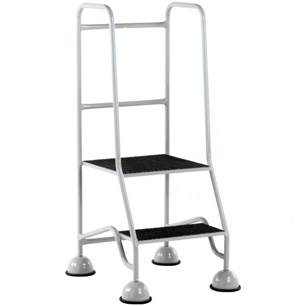 GRP Classic Plus Steps 2 tread Grey - two rails