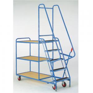 Heavy Duty Step Tray Trolley