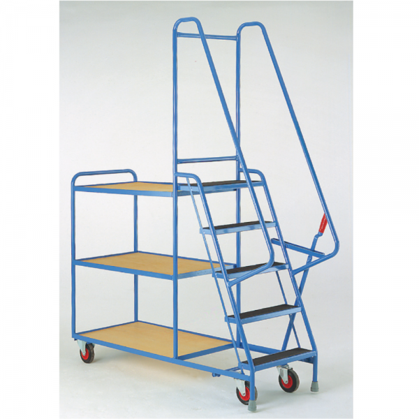 Heavy Duty Step Tray Trolley