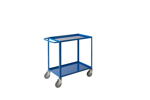 Low Cost Tray Trolleys 2 tier Blue