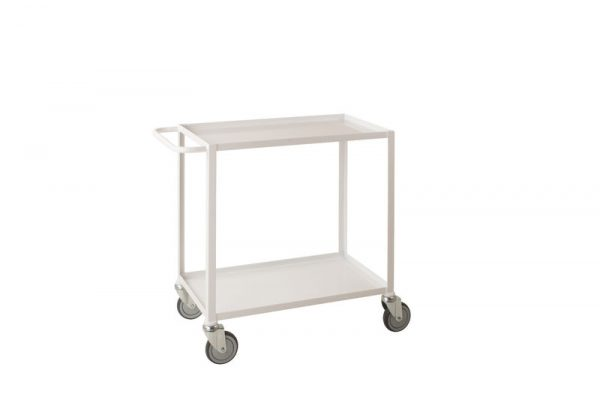 Low Cost Tray Trolleys 2 tier white