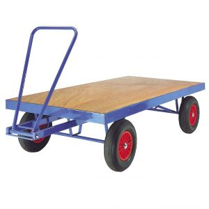 Turntable Flat bed Towing Trailer