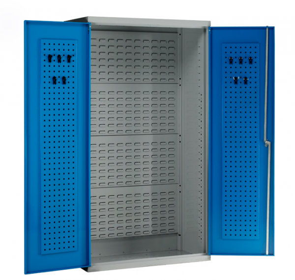 EC1835 cabinet with louvre panel back and tool panel doors