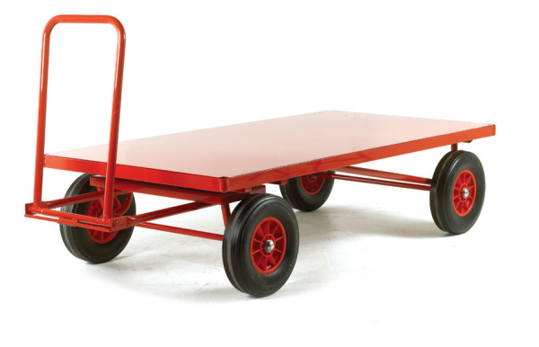 TR230 Hand Turntable Trailer Solid Tyre Steel Deck