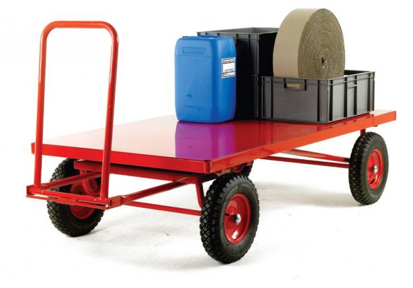 TR230P Hand Turntable trailer Pneumatic tyre steel deck