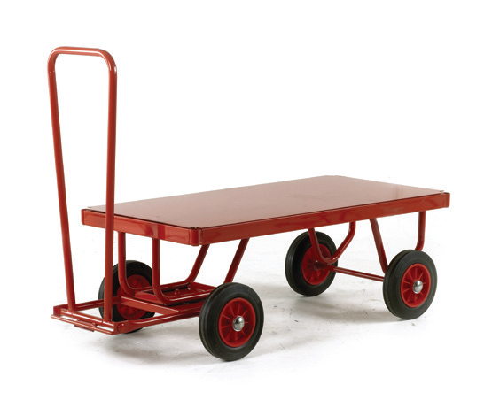 TR121S Hand Turntable Trailer Solid Tyre MDF Deck