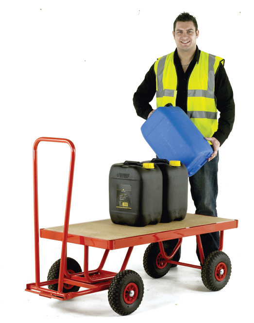 TR121P Hand Turntable Trailer Pneumatic Tyres MDF Deck