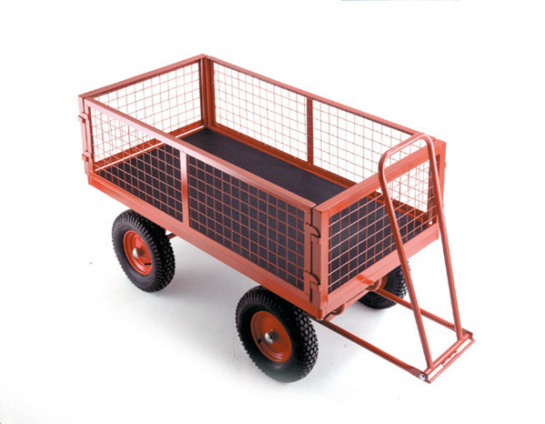 TR352P turntable trailer - pneumatic tyres - Mesh