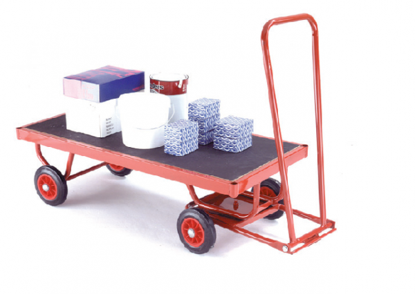 TR321 Phenolic Turnatable Trailer - Solid Tyres - Flatbed