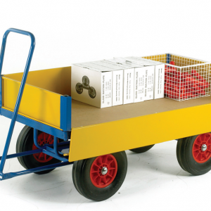Turntable Trailer with Drop Down Side Panels