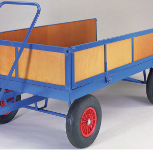 TR112P Trailer - Turntable Steering with Headboard Sidepanels and Tailgate