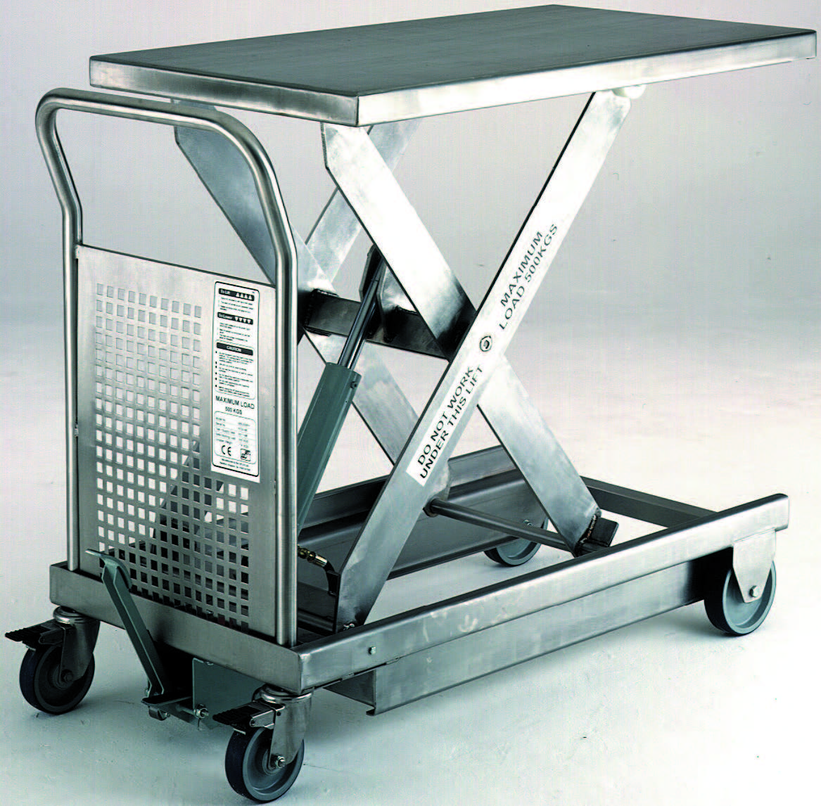 Stainless Steel Forklift : Stainless steel mobile lift tables industrial products