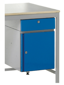 Right Fitted Single drawer + small cupboard