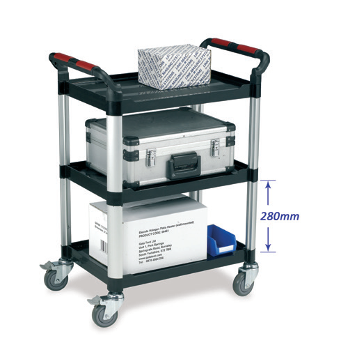 Utility Tray Trolley - 3 shelf standard size