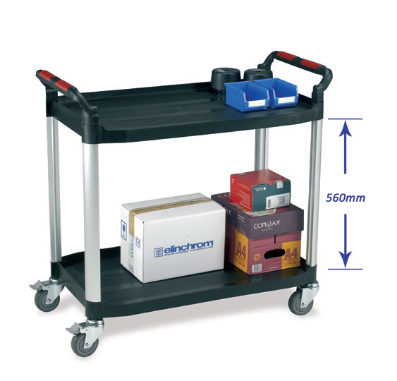Utility Tray Trolley - 2 shelf Large size