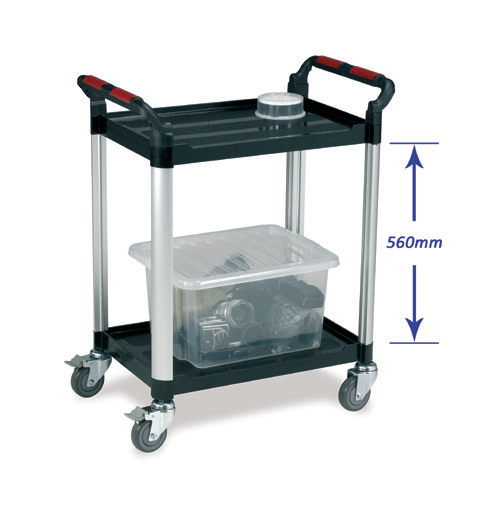 Utility Tray Trolley - 2 shelf standard size
