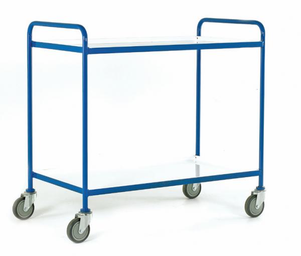 Tray Trolley White Epoxy Trays