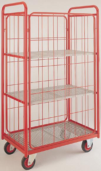Narrow aisle shelf truck - 4 mesh sides