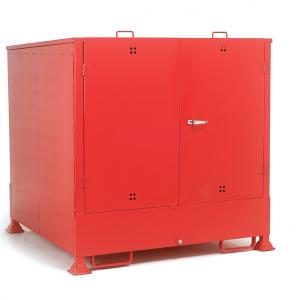 Enclosed drum Sump Storage for 4 vertical drums