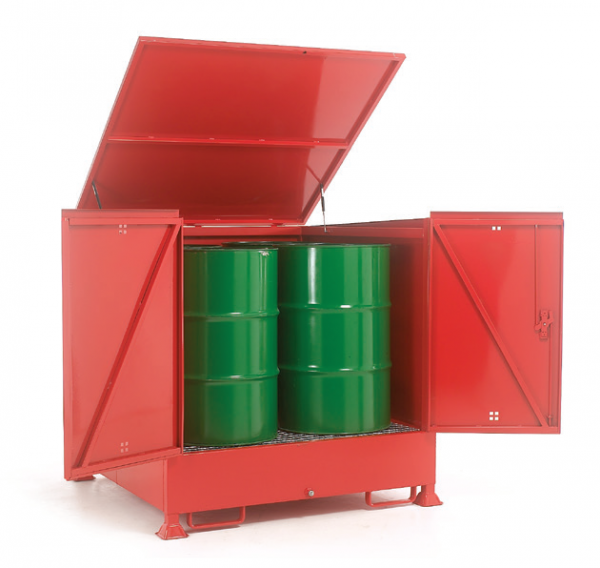 Enclosed drum Sump Storage for 4 vertical drums