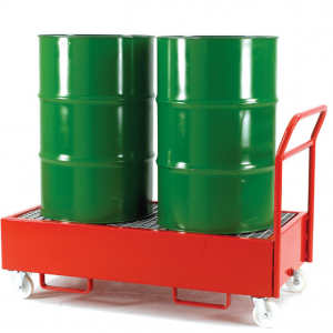 mobile drum sump trolley dispenser for 2 vertical drums