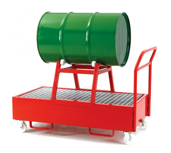 mobile drum sump trolley dispenser for 1 horizontal drum