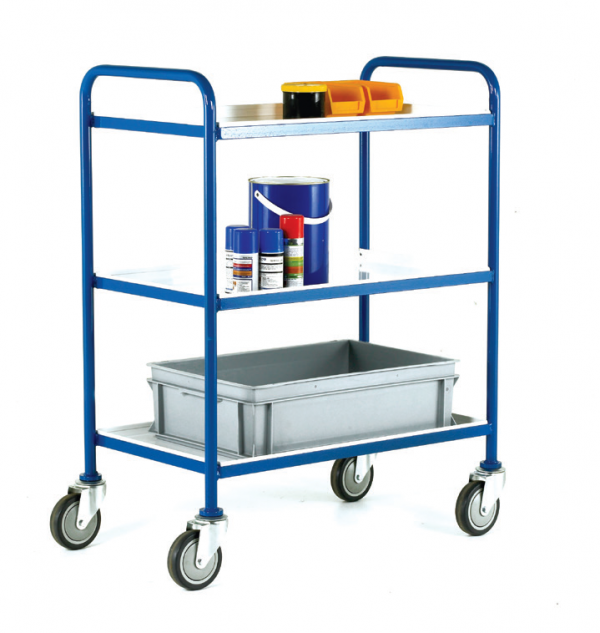 TTray Trolley White Epoxy Trays
