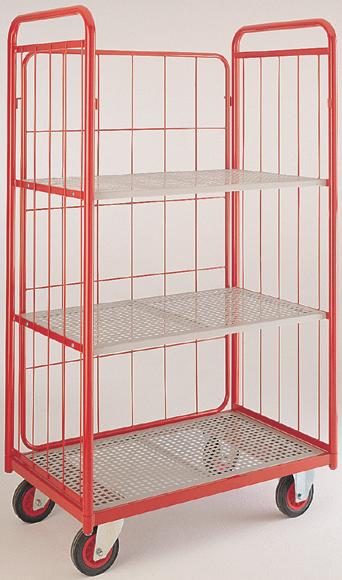Narrow aisle shelf truck - 3 mesh sides