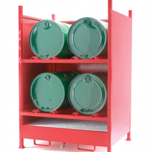 Drum Sump with back and 2 sides for 4 horizontal drums