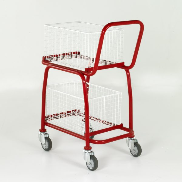 BT107 Basket Trolleys - 2 tier