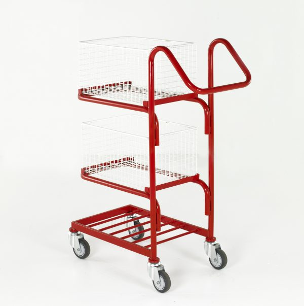 Basket and Tray Trolleys - 3 tier