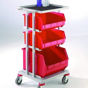 CT23 Store and Distribution Trolleys with Lined Tray