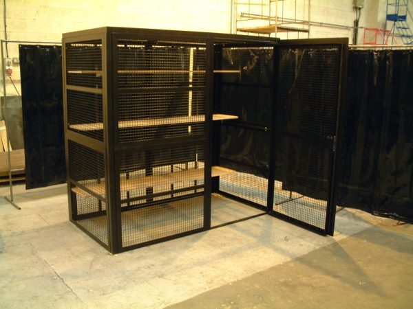 High Security Cage with internal Shelving