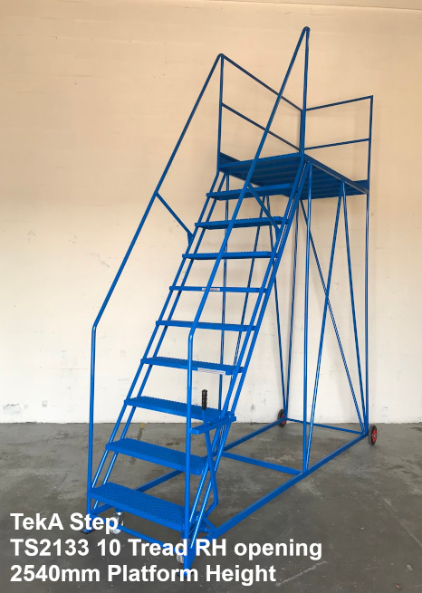 TekA Step TS2133 Single Ended Access Platform - 10 Tread - 2540mm High