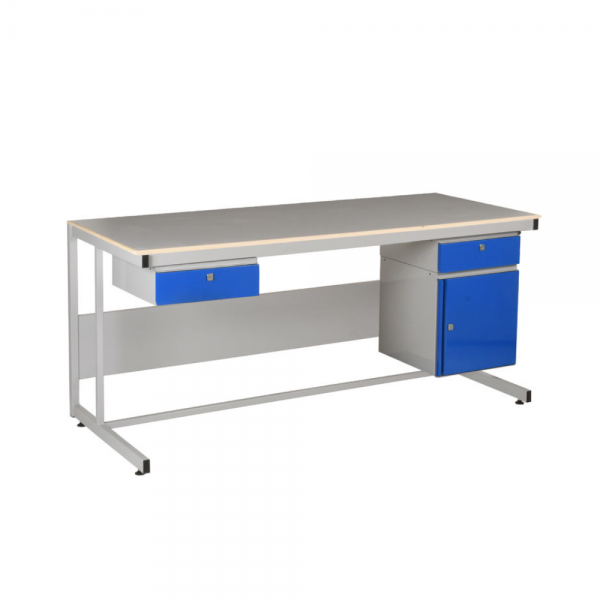 Cantilever workbench with drawers