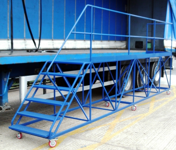 Side Access Trailer Steps 5m