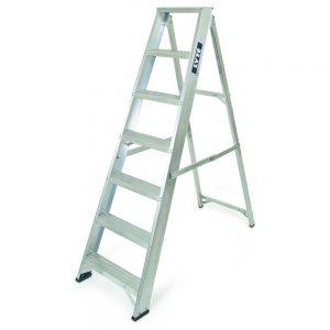 NESS7 7 Tread Aluminium Swingback Step Ladder
