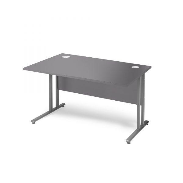 Flexus Rectangular Cantilever Leg Office Desk - Grey