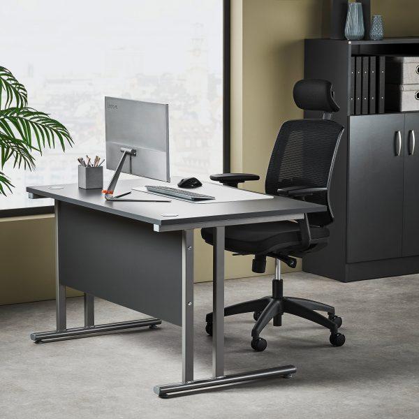 Flexus Rectangular Cantilever Leg Office Desk