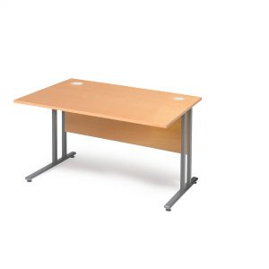 Flexus Rectangular Cantilever Leg Office Desk - Beech