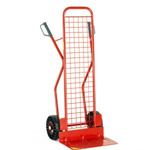 High back sack truck with mesh back