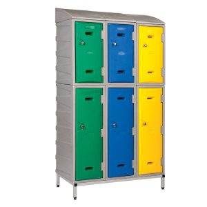 Strong Plastic Lockers Stack