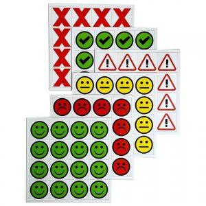 Kiss cut Indicator Icons