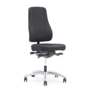 Birmingham Office Chair - Black - Grey base