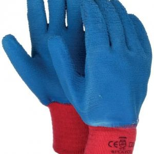 Blue grip gloves