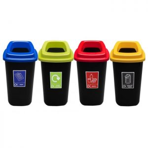 Open Top Recycling Bins - 45 Litre