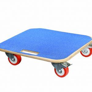 Dolly with Blue anti slip deck and Polyurethane wheels