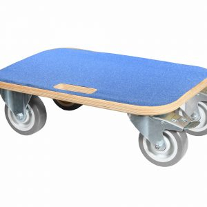 Heavy duty Wooden Dolly with grey non marking wheels