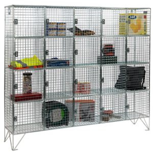 20 Compartment Wire Mesh Lockers